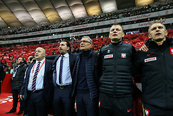 November 10, 2017 - Warsaw, Poland - Trener Adam Nawalka (POL), Tomasz Iwan during the international friendly match between Poland and Uruguay at National Stadium on November 10, 2017 in Warsaw, Poland. (Credit Image: © Foto Olimpik/NurPhoto via ZUMA Press)