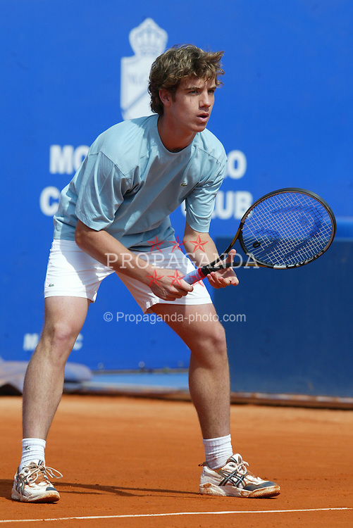 MONTE-CARLO, MONACO - Monday, April 14, 2003: 16-year-old Richard Gasquet (France) on centre court during the 1st Round of the Tennis Masters Monte-Carlo. (Pic by David Rawcliffe/Propaganda)