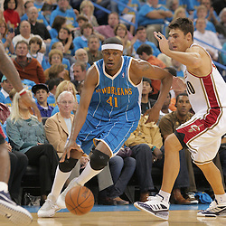 01 November 2008: New Orleans Hornets forward James Posey (41) drives past Cleveland Cavaliers guard Wally Szczerbiak (10) during a 104-92 win by the New Orleans Hornets over the Cleveland Cavaliers at the New Orleans Arena in New Orleans, LA..