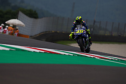 June 1, 2018 - Mugello, FI, Italy - Valentino Rossi of Movistar Yamaha MotoGP during the Free Practice 1 of the Oakley Grand Prix of Italy, at International  Circuit of Mugello, on June 01, 2018 in Mugello, Italy  (Credit Image: © Danilo Di Giovanni/NurPhoto via ZUMA Press)