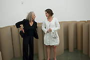 CLAIRE BAILEY; DOROTHY MEZLER-ANDELBERG, Michelangelo Pistoletto: The Mirror of Judgement, Serpentine Gallery. Lond11 July 2011. on. <br /> <br />  , -DO NOT ARCHIVE-© Copyright Photograph by Dafydd Jones. 248 Clapham Rd. London SW9 0PZ. Tel 0207 820 0771. www.dafjones.com.