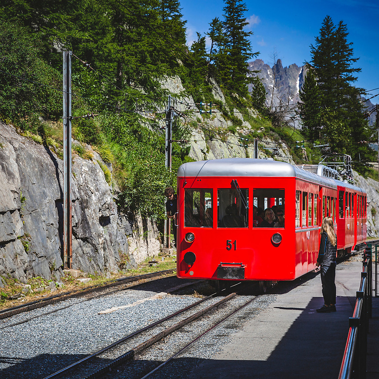 Railway link from Chamonix to Mer de Glace