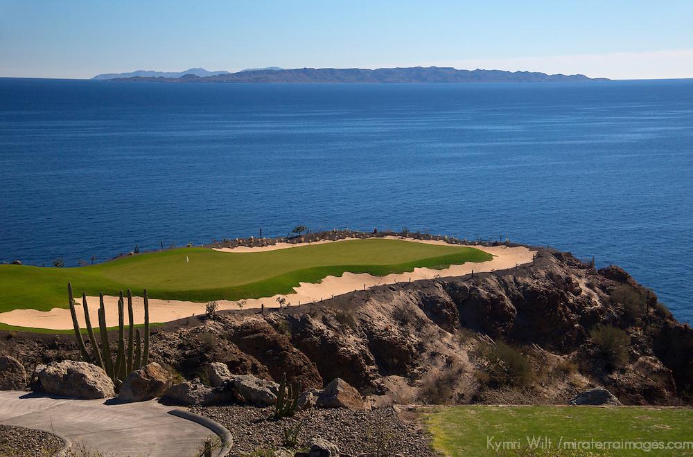 Mexico, Baja California Sur, Loreto. Danzante Bay golf course, designed by Rees-Jones, at Villa del Palmar Loreto.
