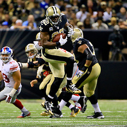 Nov 1, 2015; New Orleans, LA, USA; New Orleans Saints tight end Benjamin Watson (82) catches a pass against the New York Giants during the second half of a game at the Mercedes-Benz Superdome. The Saints defeated the Giants 52-49. Mandatory Credit: Derick E. Hingle-USA TODAY Sports