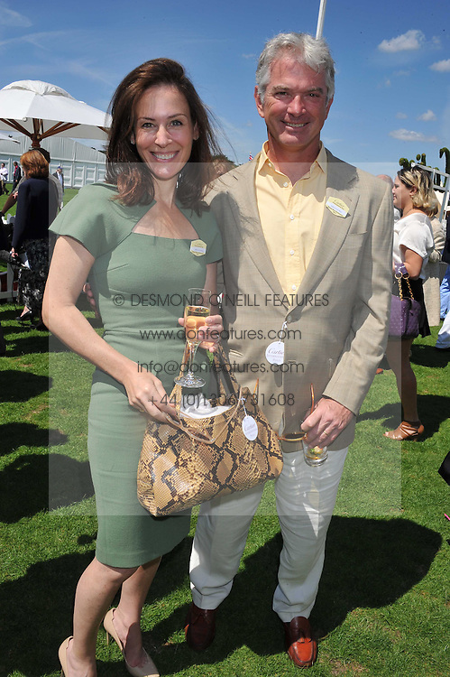 RODERICK & MELANIE VERE NICOLL at the 27th annual Cartier International Polo Day featuring the 100th Coronation Cup between England and Brazil held at Guards Polo Club, Windsor Great Park, Berkshire on 24th July 2011.