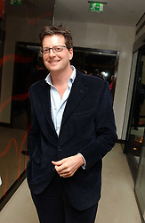 Restaurant critic WILLIAM SITWELL at a party to celebrate the opening of Maze - a new Gordon Ramsay restaurant at 10-13 Grosvenor Square, London W1 on 24th May 2005.<br />