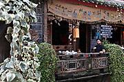 Alexander Cohn drinking puer tea in Lijiang, Yunnan, China; September, 2013.
