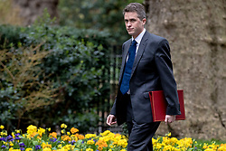 © Licensed to London News Pictures. 12/03/2019. London, UK. Defence Secretary Gavin Williamson arrives on Downing Street for a meeting of the Cabinet. MPs will get a second meaningful vote on Prime Minister Theresa May's Brexit deal this evening. Photo credit: Rob Pinney/LNP