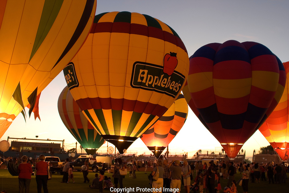 Hot Air balloon festival in Yuma Arizona.