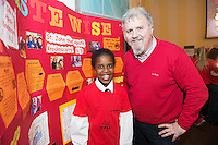 St John The Apostle pupil Mia with her dad Ronan Scully at the Galway Education centre's Junior First Lego League at the Radisson Blu hotel. Photo:Andrew Downes, xposure.