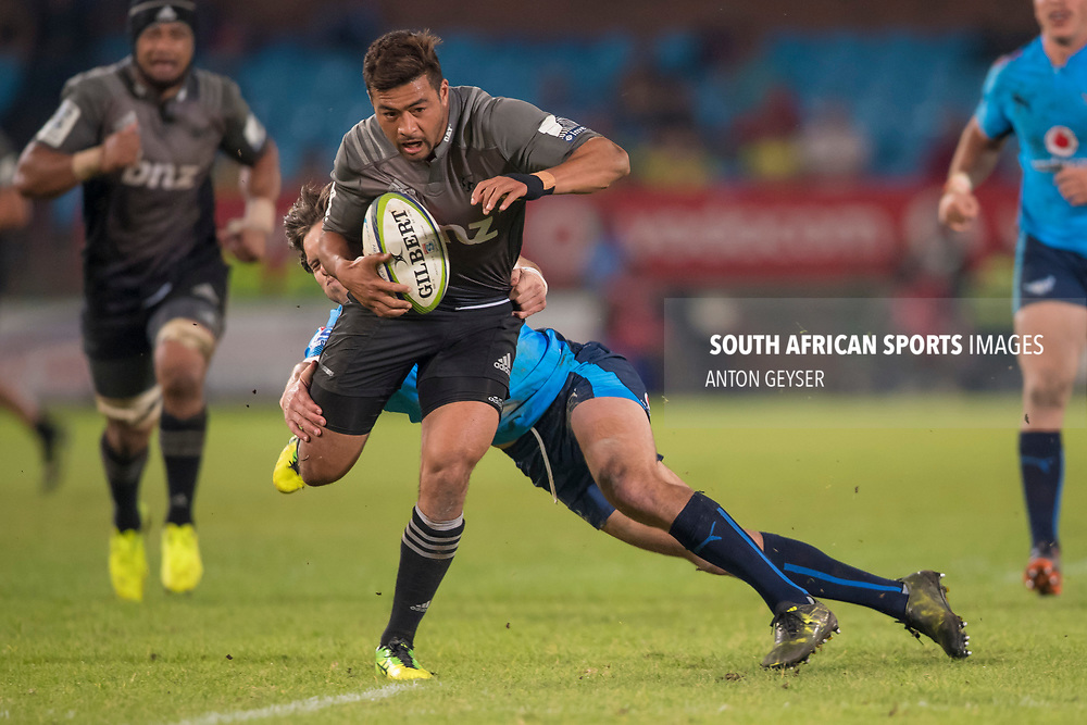 PRETORIA, SOUTH AFRICA - MAY 06: Richie Mo'unga of the Crusaders in action during the Super Rugby match between Vodacom Bulls and Crusaders at Loftus Versfeld on May 06, 2017 in Pretoria, South Africa.<br /> (Photo by Anton Geyser/Gallo Images)