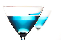 Bluecuracao in martini glass - studio shot
