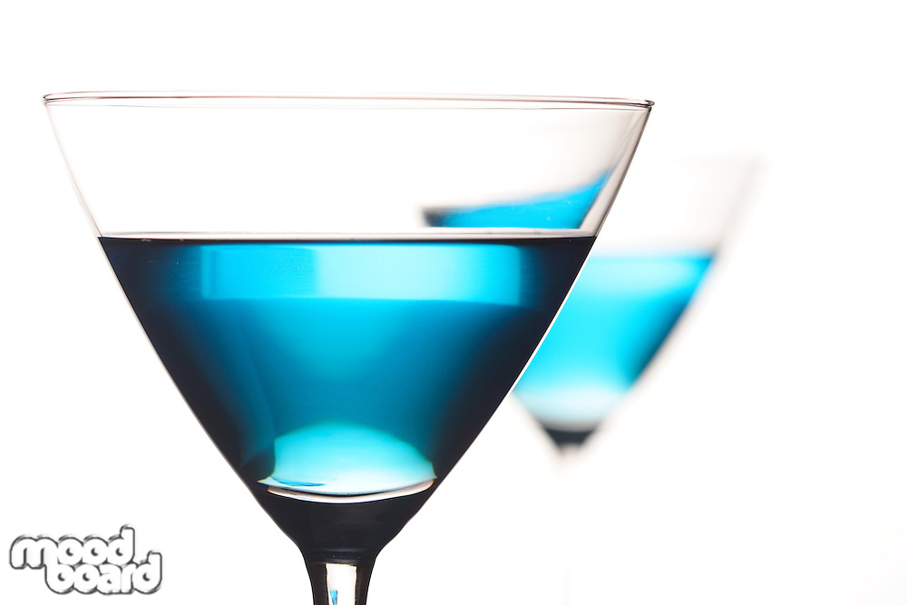 Bluecuracao in martini glass - studio shot