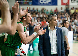 Zoran Martic, coach of Olimpija during basketball match between KK Krka Novo mesto and  KK Petrol Olimpija in 4th Final game of Liga Nova KBM za prvaka 2017/18, on May 27, 2018 in Sports hall Leona Stuklja, Novo mesto, Slovenia. Photo by Vid Ponikvar / Sportida