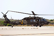 Israeli Air force helicopter, Sikorsky UH-60 Black Hawk in flight