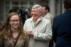 © Licensed to London News Pictures. 14/04/2016. London, UK. Former Home Secretary ALAN JOHNSON, leaves following a speech by Leader of the Labour Party Jeremy Corbyn on  Britain remaining in Europe, at Senate House in London. The Uk is due to vote in and in out referendum in their membership of the EU on June 23rd, 2016.  Photo credit: Ben Cawthra/LNP