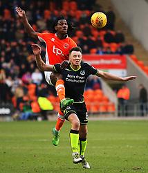 Sessi D'Almeida of Blackpool challenges Ollie Clarke of Bristol Rovers - Mandatory by-line: Matt McNulty/JMP - 13/01/2018 - FOOTBALL - Bloomfield Road - Blackpool, England - Blackpool v Bristol Rovers - Sky Bet League One