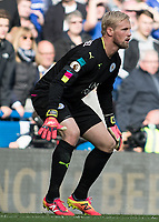 Football - 2016/2017 Premier League - Chelsea V Leicester.<br /> <br /> Kasper Schmeichel of Leicester City at Stamford Bridge.<br /> <br /> COLORSPORT/DANIEL BEARHAM