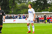 Leeds United Kun Temenuzhkov (15) during the Pre-Season Friendly match between Tadcaster Albion and Leeds United at i2i Stadium, Tadcaster, United Kingdom on 17 July 2019.