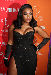 September 12, 2019, New York, New York, USA: MEGAN THEE STALLION attends RihannaÃ•s Fifth Annual Diamond Ball held at Cipriani Wall Street. (Credit Image: © Nancy Kaszerman/ZUMA Wire)