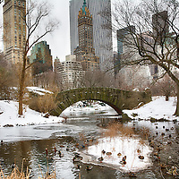 Gapstow Bridge, Central Park in winter