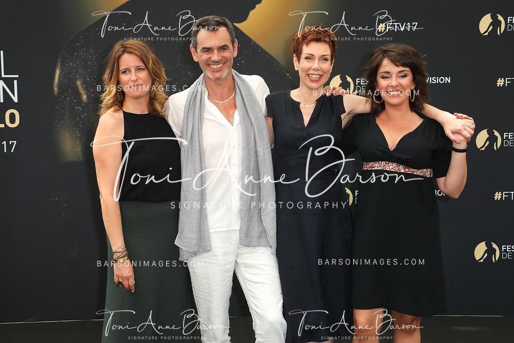 "MONTE-CARLO, MONACO - JUNE 18:  (L-R) Anne Decis, Jerome Bertin, Marie Reache and Stephanie Pareja attends ""Plus Belle La Vie"" photocall on June 18, 2017 at the Grimaldi Forum in Monte-Carlo, Monaco.  (Photo by Tony Barson/FilmMagic)"