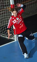 Goalkeeper of Gyori Katalin Palinger at EHF Champions league handball match in Group II between RK Krim Mercator and Gyori Audi Eto KC, on February 7, 2009, in Kodeljevo, Ljubljana, Slovenia. Gyori won 35:31. (Photo by Vid Ponikvar / Sportida)