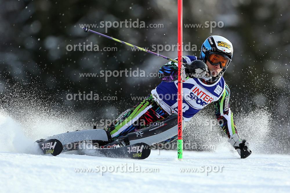 06.01.2014, Stelvio, Bormio, ITA, FIS Weltcup Ski Alpin, Bormio, Slalom, Herren, im Bild Naoki Yuasa // Naoki Yuasa  in action during mens Slalom of the Bormio FIS Ski World Cup at the Stelvio in Bormio, Italy on 2014/01/06. EXPA Pictures © 2014, PhotoCredit: EXPA/ Sammy Minkoff<br /> <br /> *****ATTENTION - OUT of GER*****