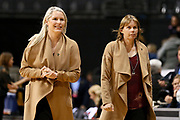 Tactix Coach Marianne Delaney-Hoshek (L) and Tactix Assistant Coach Julie Seymour (R). ANZ Premiership netball match - Magic v Tactix played at Claudelands Arena, Hamilton, New Zealand on 30 July 2018.<br /> <br /> Copyright photo: © Bruce Lim / www.photosport.nz