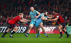 Greg Holmes of Exeter Chiefs in action against Jean Kleyn of Munster Rugby - Mandatory by-line: Ken Sutton/JMP - 19/01/2019 - RUGBY - Thomond Park - Limerick,  - Munster Rugby v Exeter Chiefs -