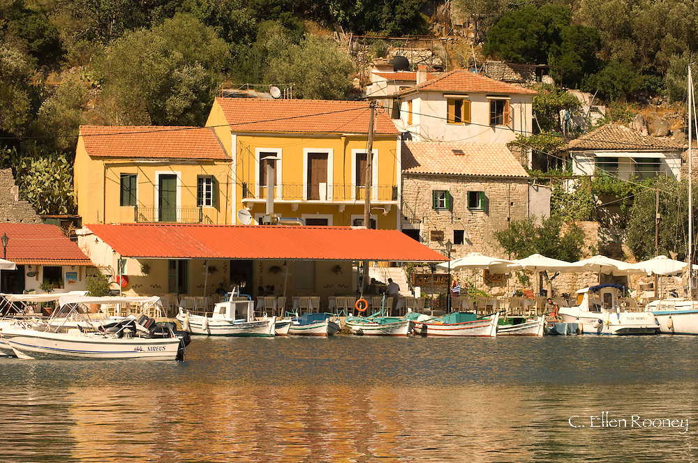 The harbour of Kioni, Ithaca, The Ionian Islands,