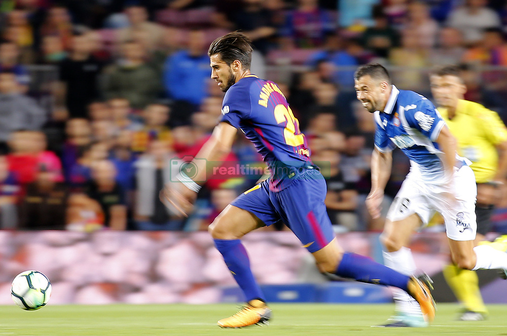 September 9, 2017 - Barcelona, Catalonia, Spain - Andre Gomes during La Liga match between F.C. Barcelona v RCD Espanyol, in Barcelona, on September 09, 2017. (Credit Image: © Joan Valls/NurPhoto via ZUMA Press)