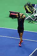 FLUSHING MEADOW, NY - SEPTEMBER 10: RAFAEL NADAL (ESP) during the men's final of the 2017 US Open on September 10, 2017 at Billie Jean King National Tennis Center, Flushing Meadow, NY.(Photo by Chaz Niell/Icon Sportswire)