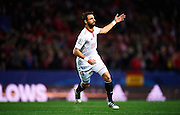 SEVILLE, SPAIN - NOVEMBER 22:  Nicolas Pareja of Sevilla FC celebrates after scoring during the UEFA Champions League match between Sevilla FC and Juventus at Estadio Ramon Sanchez Pizjuan on November 22, 2016 in Seville, .  (Photo by Aitor Alcalde/Getty Images)