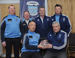 Charlie Lambert Chairman Westport Bord na nOg made a presentation to minor team manager Tim Kennedy and coaches at the awards evening,<br />