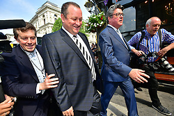 © London News Pictures. 07/06/2016. London, UK. Founder and Deputy Executive Chairman of Sports Direct, MIKE ASHLEY, arrives at Portcullis House in London to give evidence to a Business, Innovation and Skills Committee about treatment of low-paid staff.. Photo credit: Ben Cawthra/LNP