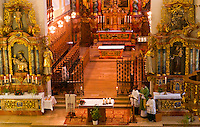 Sunday Mass, Monastery of Our Lady of Offenburg (Capuchin Monastery), Offenburg, Baden-Württemberg, Germany