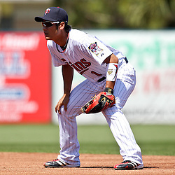 March 11, 2011; Fort Myers, FL, USA; Minnesota Twins second baseman Tsuyoshi Nishioka (1) during a spring training exhibition game against the Boston Red Sox at Hammond Stadium.   Mandatory Credit: Derick E. Hingle
