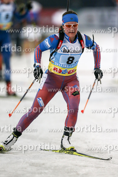 28.12.2015, Veltins Arena, Gelsenkirchen, GER, IBU Weltcup Biathlon, auf Schalke, im Bild Ekaterina Yurlova (Russland/RU) // during the IBU Biathlon World Cup at Veltins Arena in Gelsenkirchen, Germany on 2015/12/28. EXPA Pictures &copy; 2015, PhotoCredit: EXPA/ Eibner-Pressefoto/ Kohring<br /> <br /> *****ATTENTION - OUT of GER*****
