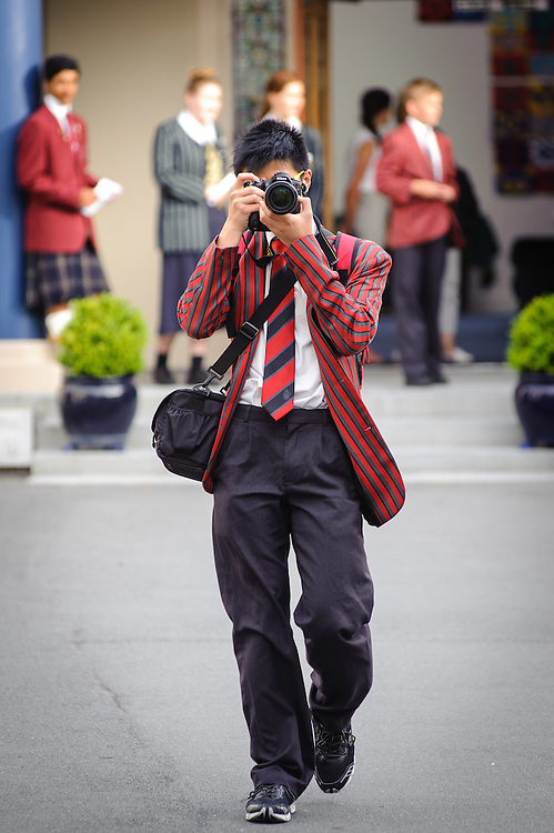 WELLINGTON, NEW ZEALAND - February 05: Scots 100 Parade from Queen Margaret College to Parliament  February 05, 2016 in Wellington, New Zealand.  (Photo by Elias Rodriguez/ http://www.scotscollege.school.nz/)
