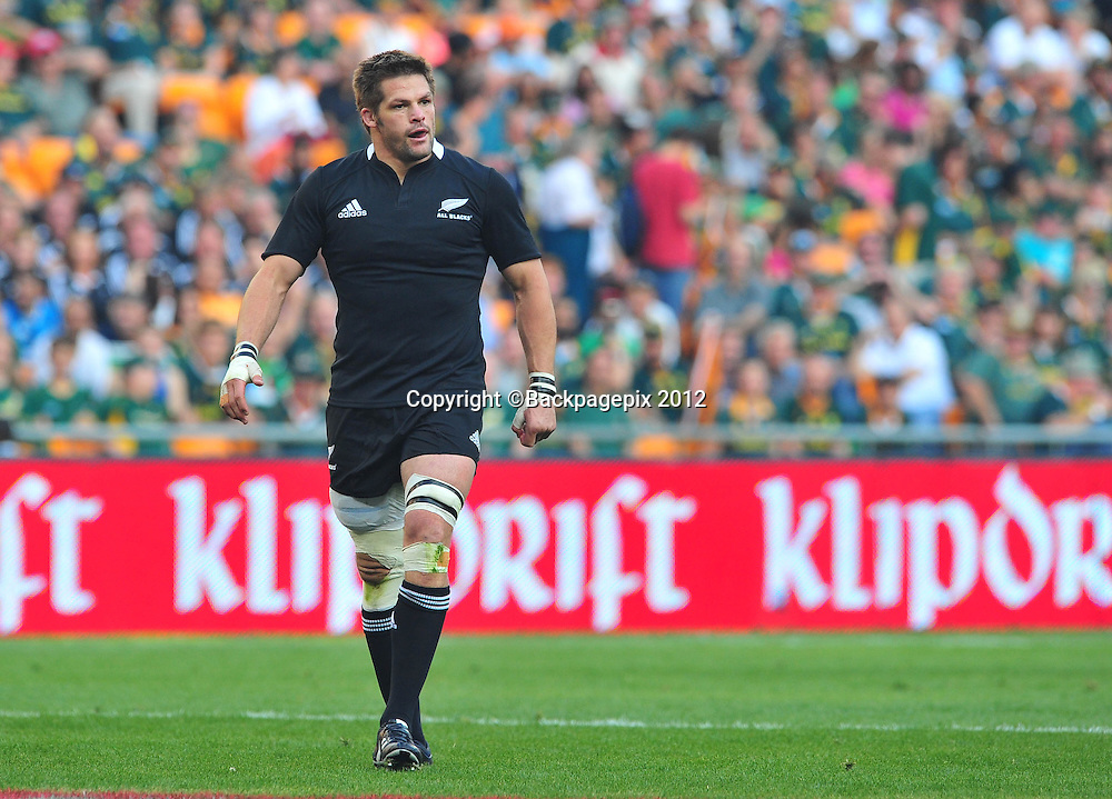 Richie McCaw of New Zealand during the 2012 Castle Rugby Championship on the 6 October 2012 at Soccer City in Johannesburg ©Chris Ricco/BackpagePix