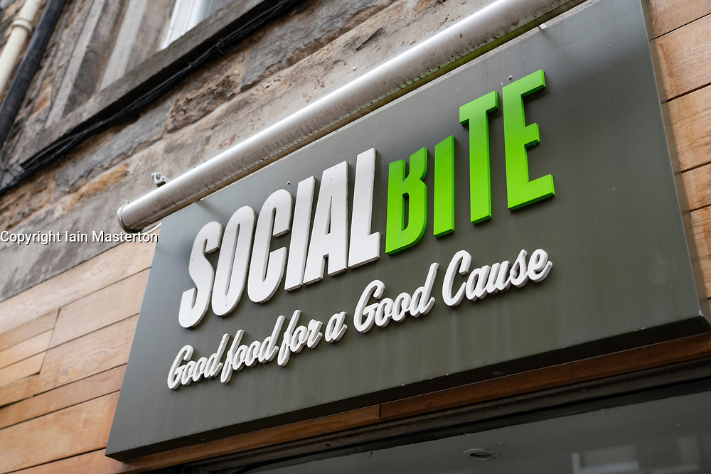 Homeless organisation Social Bite cafe on Rose Street in Edinburgh, Scotland, UK