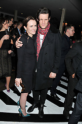 EILIDH MACASKILL Editor of InStyle and MATT SMITH at the InStyle Best of British Talent Event in association with Lancôme and Avenue 32 held at The Rooftop Restaurant, Shoreditch House, Ebor Street, London E1 on 30th January 2013.