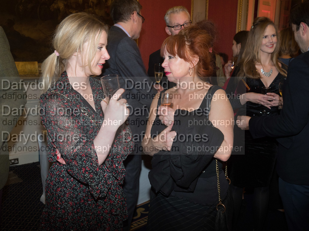 JOANNA BELL,, Literary Review Christmas drinks and  Bad Sex in fiction Awards, In and Out club. St. James's Sq. London. 30 November 2017