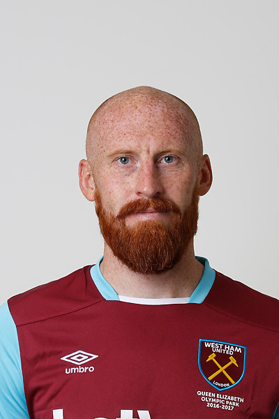 LONDON, ENGLAND - AUGUST 06:  James Collins of West Ham poses during a Premier League portrait session on August 6, 2016 in London, England. (Photo by Tom Shaw/Getty Images)