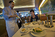 Aboard the Rhapsody of the Seas, on a cruise from Vancouver to Hawaii. Lunch at Edelweiss Restaurant.