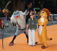 Ronan Parke The Lion King 3D - UK film premiere, BFI IMAX, Waterloo, London, UK. 25 September 2011 Contact: Rich@Piqtured.com +44(0)7941 079620 (Picture by Richard Goldschmidt)