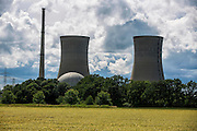 Grafenrheinfeld | Deutschland | 126.06.2016: Das derzeit stillgelegte Atomkraftwerk Grafenrheinfeld der PreussenElektra.<br /> <br /> Das AKW Grafenrheinfeld ist auch durch den Roman &quot;Die Wolke&quot; von  Gudrun Pausewang bekannt.<br /> <br /> hier: <br /> <br /> Sascha Rheker<br /> 20160616<br /> <br /> [Inhaltsveraendernde Manipulation des Fotos nur nach ausdruecklicher Genehmigung des Fotografen. Vereinbarungen ueber Abtretung von Persoenlichkeitsrechten/Model Release der abgebildeten Person/Personen liegt/liegen nicht vor.]