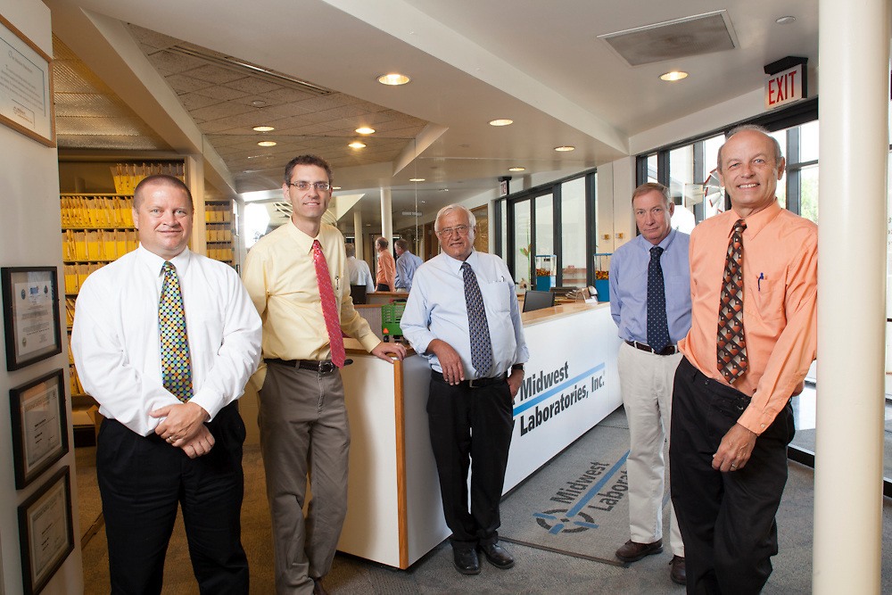 06 July 2012- Ken Pohlman, president .Midwest Laboratories is photographed at his business for B2B  Magazine.