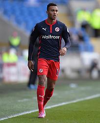 Reading's Jordan Obita - Photo mandatory by-line: Alex James/JMP - Mobile: 07966 386802 - 24/01/2015 - SPORT - Football - Cardiff - Cardiff City Stadium - Cardiff City v Reading - FA Cup Fourth Round
